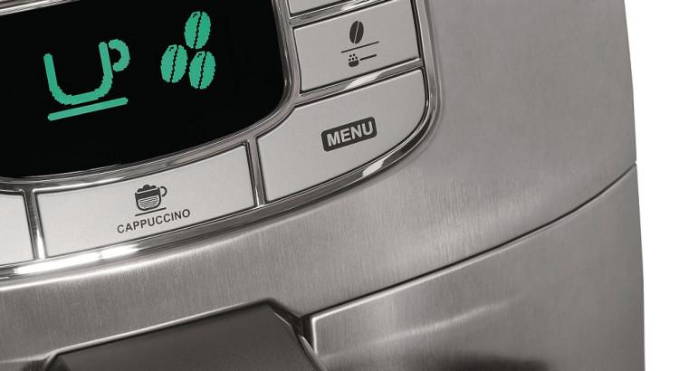 saeco Intelia Evo HD8753 detail tlačítka menu displeje
